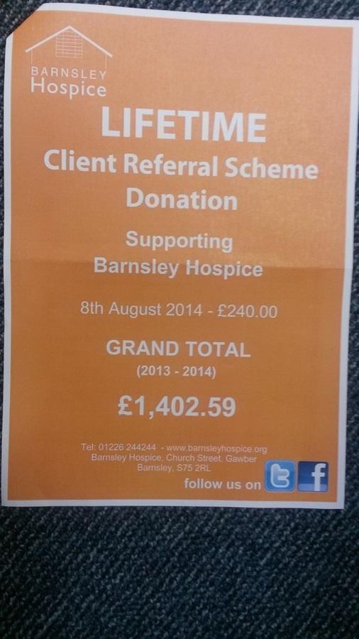Barnsley Hospice form 2