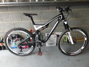 Kevin's precious mountain bike