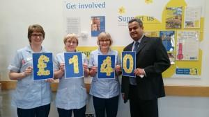 Girish and the nurses from Bradford Hospice