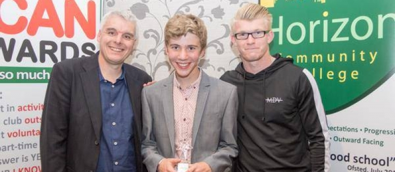 Lifetimer Andrew delighted to play his part in Horizon's Special Awards night