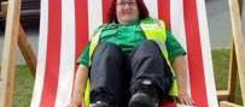 Lifetime administrator Karen volunteers for races day – with St John Ambulance