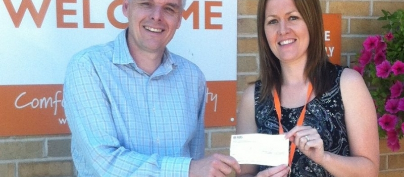 Cheque presentation sees Barnsley hospice hail Lifetime commitment to the community
