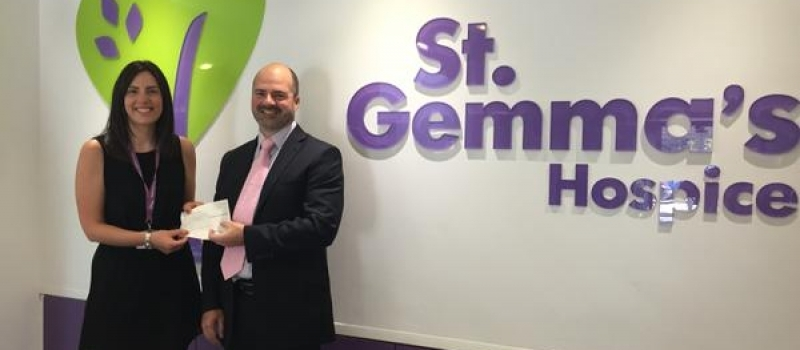 Financial Planner Matt a welcome visitor to St Gemma's Hospice