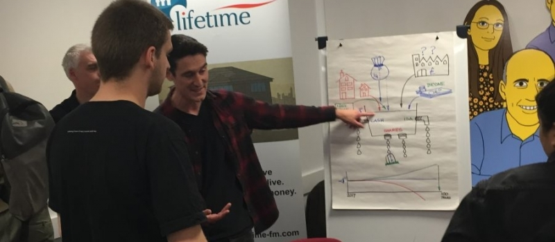 Lifetimers explain financial planning career to Sheffield Hallam students