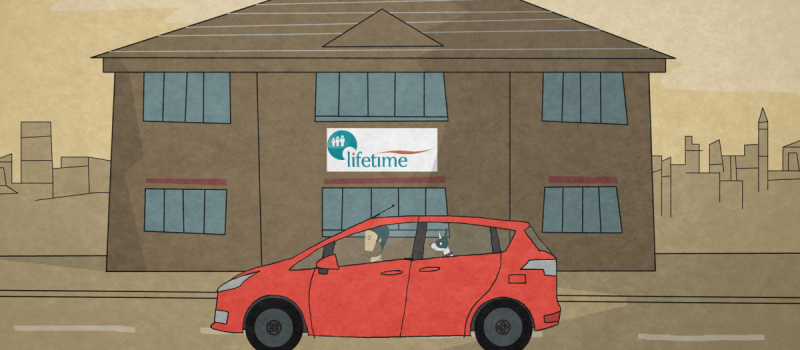 Here is a man! Lifetime's new animation is unveiled – and goes down a treat!