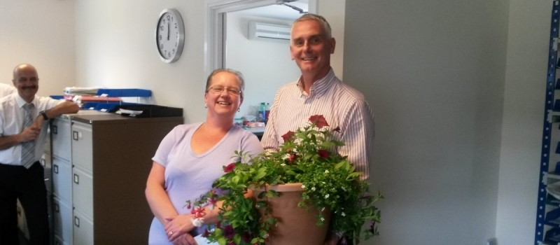 Lifetime pay tribute to stalwart Michelle – for 10 years sterling service!