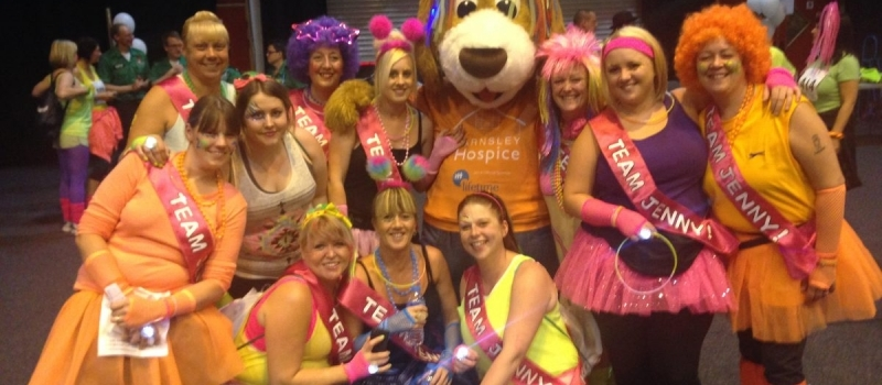 Lifetime-sponsored hospice mascot proves a big hit at 'Midnight Walk' event
