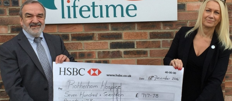 Rotherham Hospice thrilled with Lifetime referral scheme!