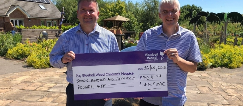 Another bumper Lifetime cheque for Bluebell Wood Children's Hospice