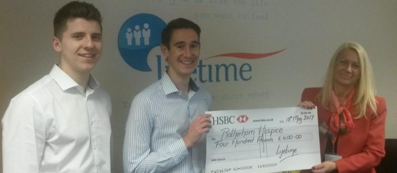 Rotherham Hospice the recipient of Lifetime referral scheme cash