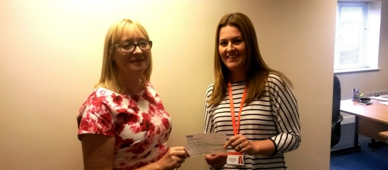 Referral scheme cheque presented to Barnsley Hospice