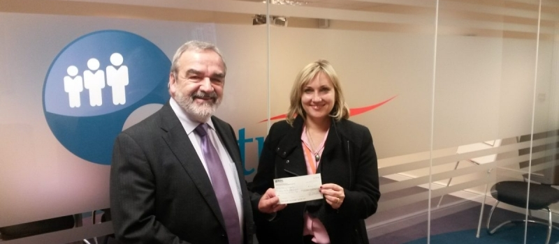 Lifetimer Ken delighted to present Barnsley Hospice with referral scheme cheque